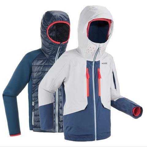 Abrigo Chaqueta Esquí Y Nieve Wed'ze 900 2 Piezas Niños Gris Azul de Decathlon en 21 Buttons