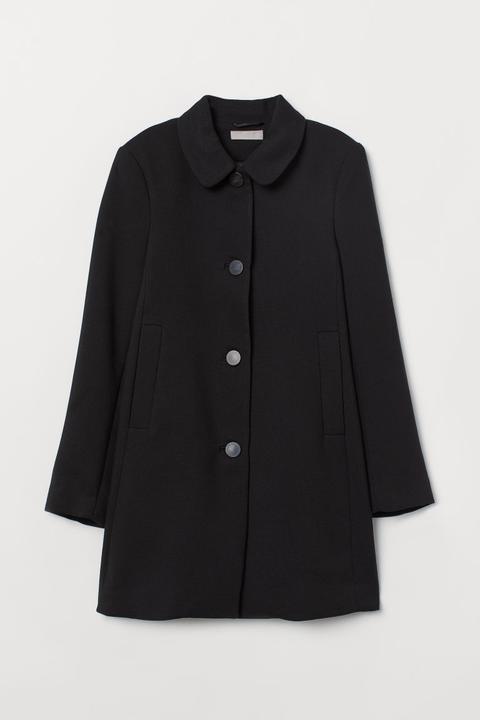 Abrigo Corto - Negro de H&M en 21 Buttons