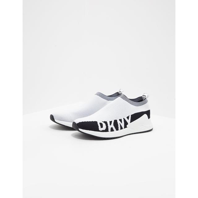 Womens Dkny Rini Sock Trainers White