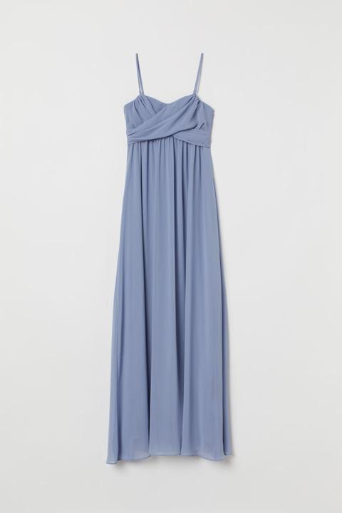 H & M - H & M+ Vestido largo con encaje hm azul Corto