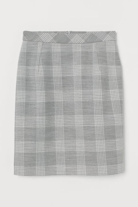 Short Pencil Skirt - Grey