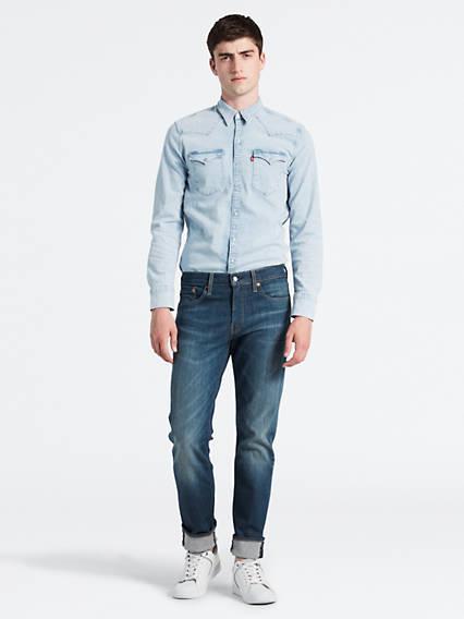 511™ Slim Fit Jeans Advanced Stretch Azul / Limerick de Levi's en 21 Buttons