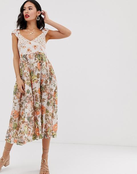 Vestido Midi Con Estampado Floral Love You De Free People de ASOS en 21 Buttons
