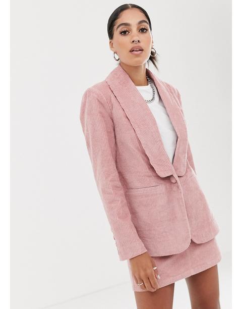 Blazer De Pana De Signature 8-rosa