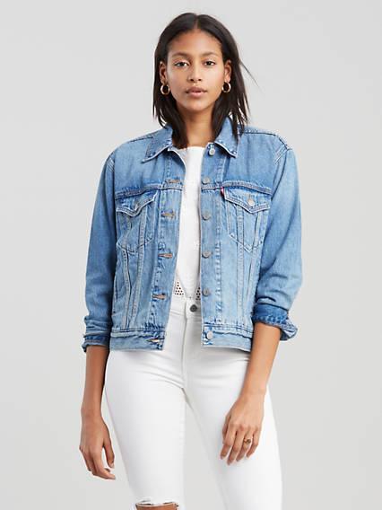 Ex Boyfriend Trucker Jacket Azul / Soft As Butter Medium Blue de Levi's en 21 Buttons