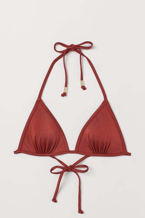 Top De Bikini De Triángulo - Rojo