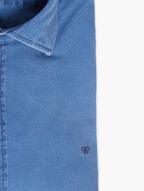 Camisa Sport Denim Estructura Indigo