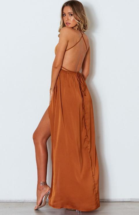 Akela Maxi Dress Rust