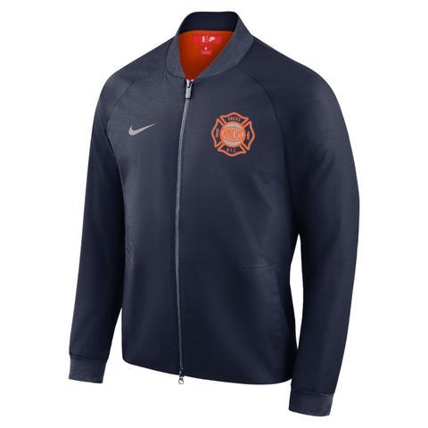 competitive price 7e1da cc63b New York Knicks City Edition Nike Modern Chaqueta Universitaria De La Nba -  Hombre - Azul from Nike on 21 Buttons