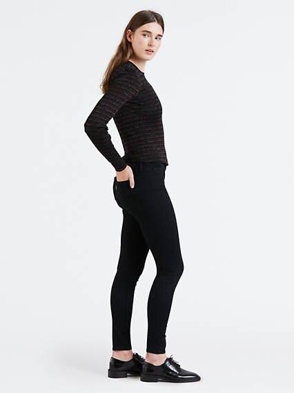 710™ Super Skinny Jeans Negro / Black Galaxy