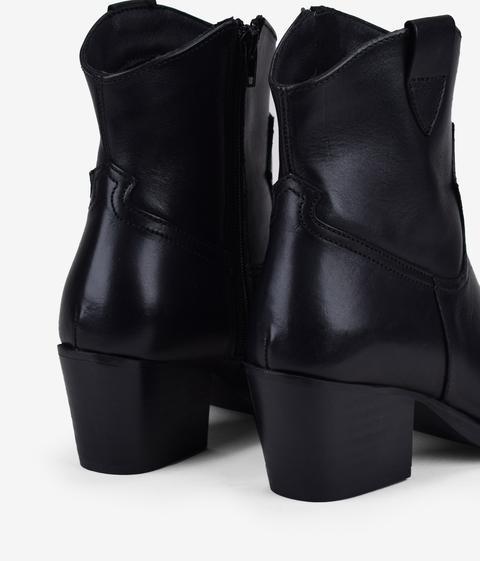 Bosanova - Botín Cowboy Negro Piel - Color: Negro - Talla 40 de Bosanova en 21 Buttons