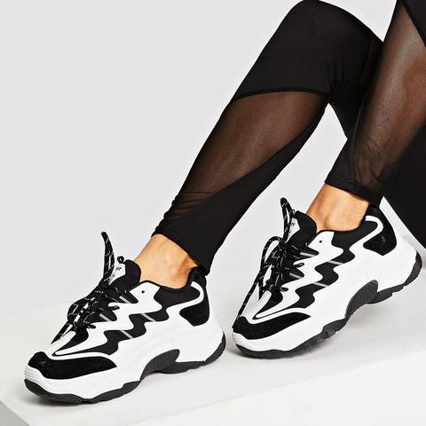 Zapatillas De Suela Gruesa Con Cordón