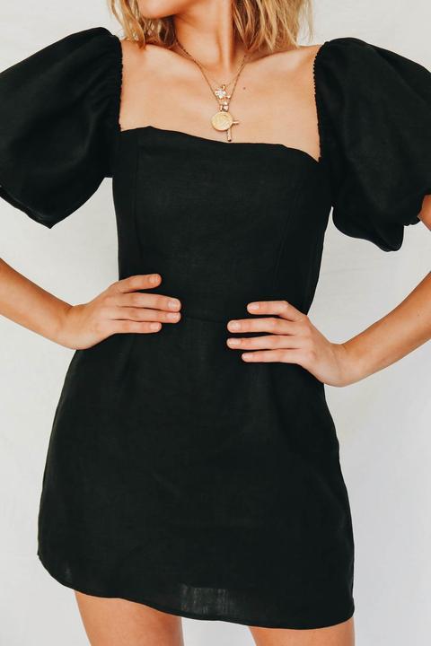 Vg Edit Of The Best Linen Mini Dress // Black