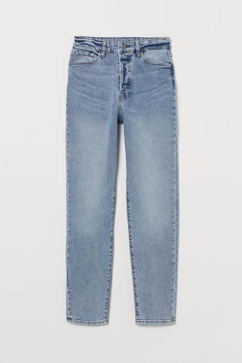 Mom High Ankle Jeans - Azul