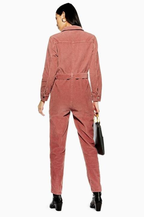 Petite Pink Corduroy Boiler Suit