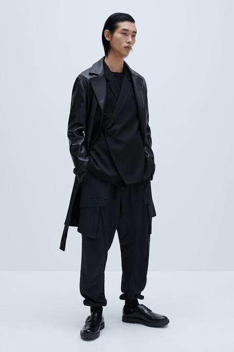 Abrigo Efecto Piel de Zara en 21 Buttons