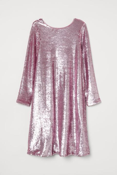 Vestido De Lentejuelas - Rosa de H&M en 21 Buttons