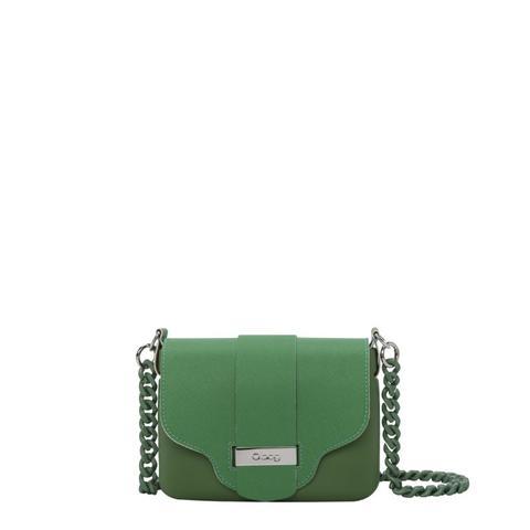 design senza tempo e49b3 d4d6f O Pocket Verde Inglese Con Pattina Stampa Saffiano Con Tracolla Plexiglass  from O Bag on 21 Buttons