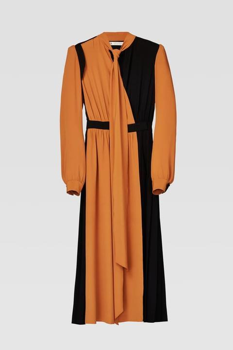 Vestido Combinado de Zara en 21 Buttons
