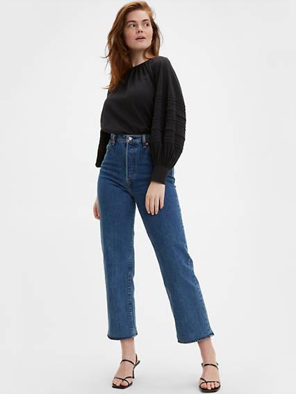 Ribcage Straight Ankle Jeans Azul / Georgie