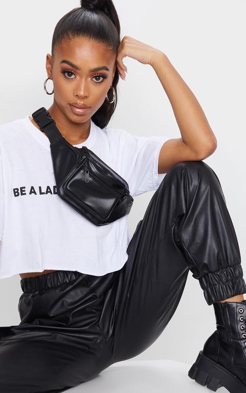 Annake Faux Leather Bum Bag Plain