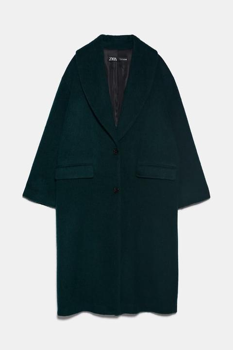 Abrigo Cuello Smoking de Zara en 21 Buttons