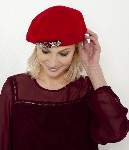 Desigual Red Hat Chapeau Noir Fleurs