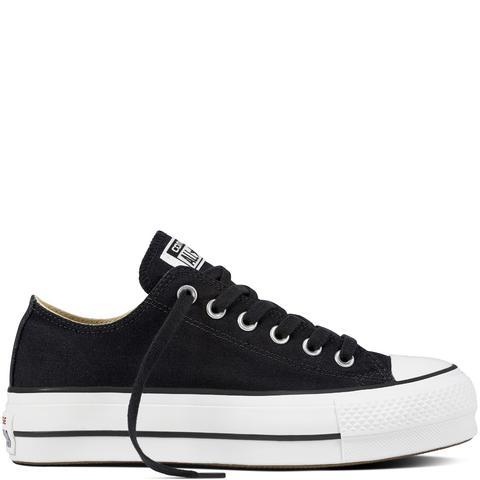 Converse Chuck Taylor All Star Platform Canvas Low Top Black, White de Converse en 21 Buttons