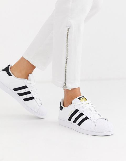 Adidas Originals Superstar Trainers In
