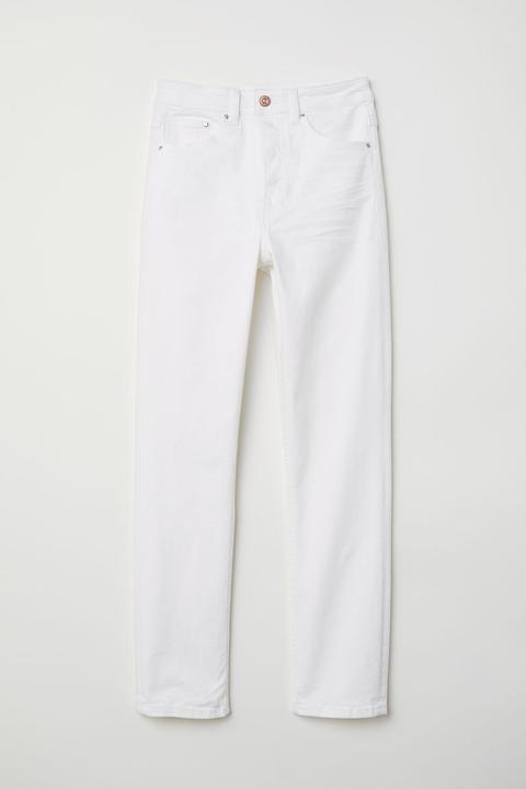 Slim Mom Jeans - Blanc