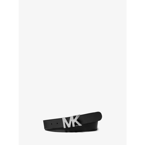 Cinturón De Piel Con Hebilla Con Logotipo de Michael Kors en 21 Buttons