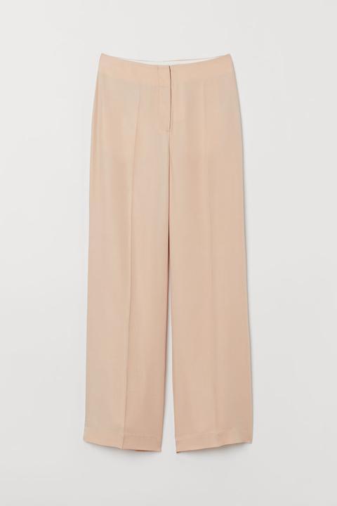 Pantalón En Mezcla De Seda - Naranja de H&M en 21 Buttons