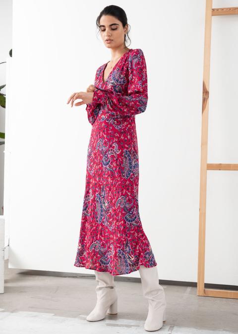 Paisley V-cut Midi Dress de And Other Stories en 21 Buttons