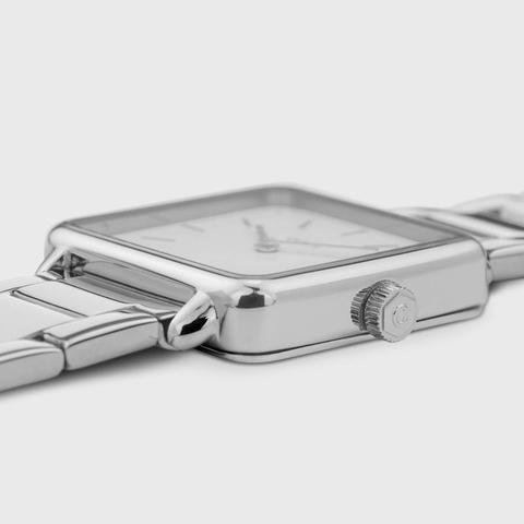 La Tétragone Three Link Silver/white Pearl