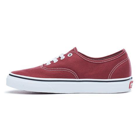 zapatillas vans authentic hombre rojo