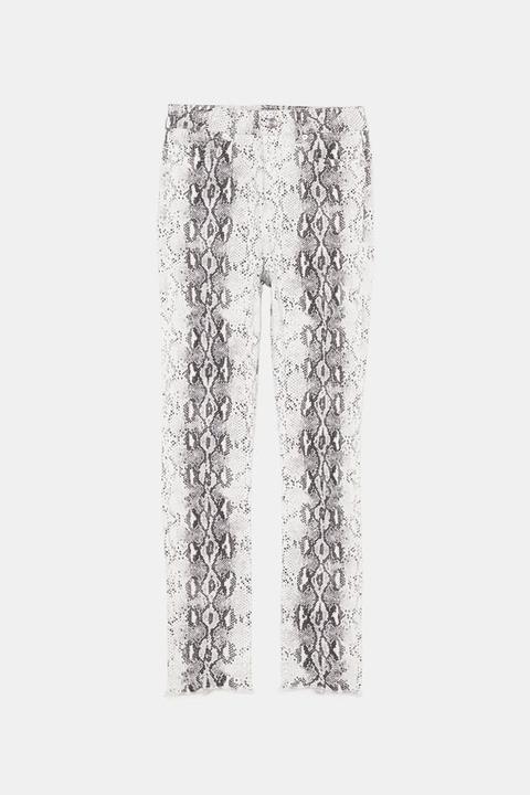 High-waist-jeans Zw Premium Mit Schlangenhautmuster