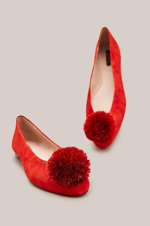 Bailarina Pom-pom de Cortefiel en 21 Buttons