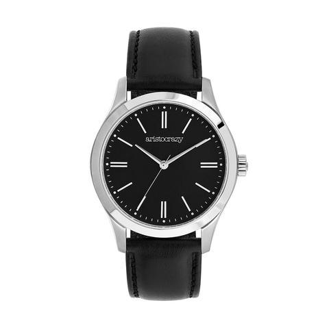 Reloj Mitte Negro Liso Esfera Negra de Aristocrazy en 21 Buttons