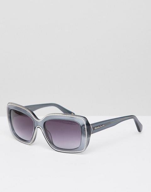 Gafas De Sol Cuadradas En Gris De Christian Lacroix-dorado de ASOS en 21 Buttons