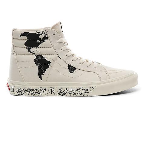 Vans Zapatillas Sk8-hi Reissue De La Colección Save Our Planet X Vans ((save Our Planet) Classic White/black) Mujer Negro de Vans en 21 Buttons