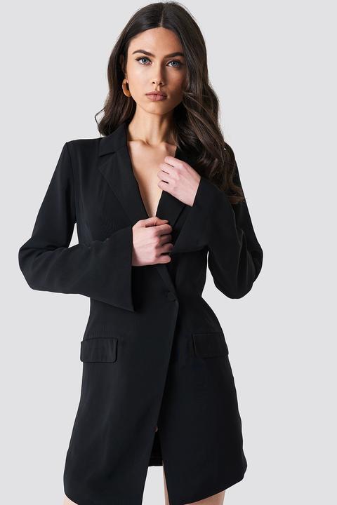 Asymmetric Blazer Dress Schwarz from Na-Kd on 21 Buttons