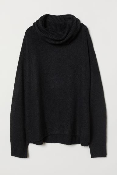 H & M - Jersey De Cuello Alto De Punto - Negro