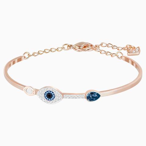 Brazalete Swarovski Symbolic Evil Eye, Azul, Combinación De Acabados Metálicos de Swarovski en 21 Buttons