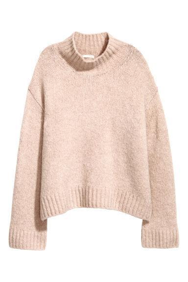 H & M - Pullover In Misto Lana - Rosa