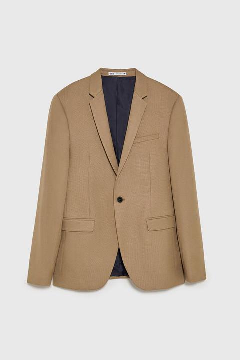 Blazer Conjunto Estructura de Zara en 21 Buttons