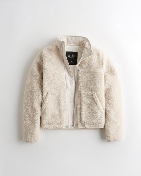 Mockneck Sherpa Jacket