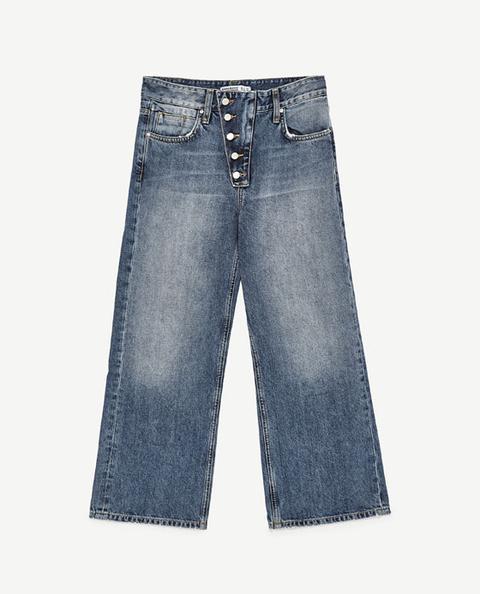 Jeans Tiro Medio Culotte