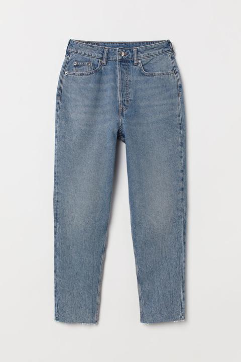 Slim Mom Jeans - Blue - Damen