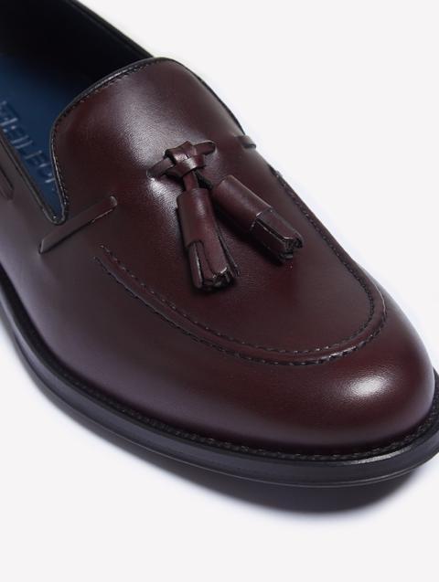 Zapato Vestir Borlas Burdeos Mate de Silbon en 21 Buttons