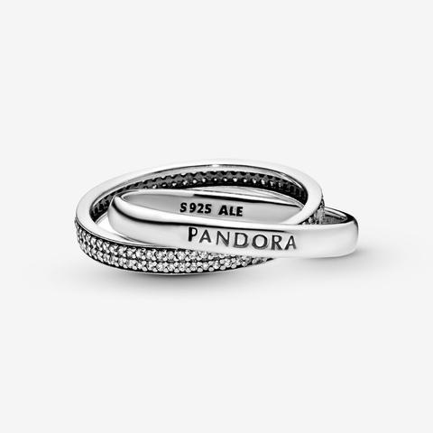anello intrecciato pandora